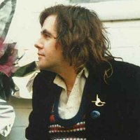 Jeremy Browning circa 1985 in Nick Drake pose with Witchseason brooch